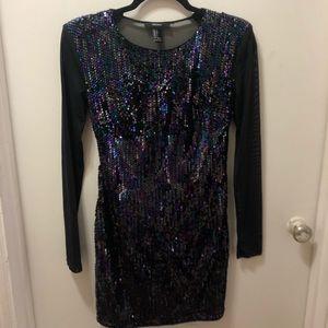 Forever 21 mesh back sequin dress